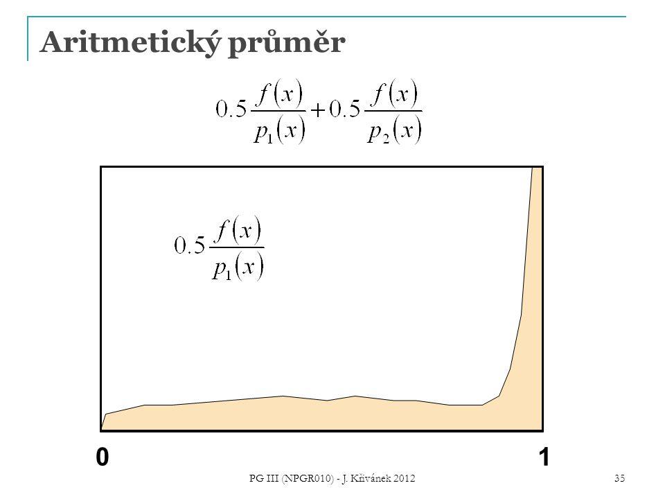 Aritmetický průměr 01 PG III (NPGR010) - J. Křivánek 2012 35