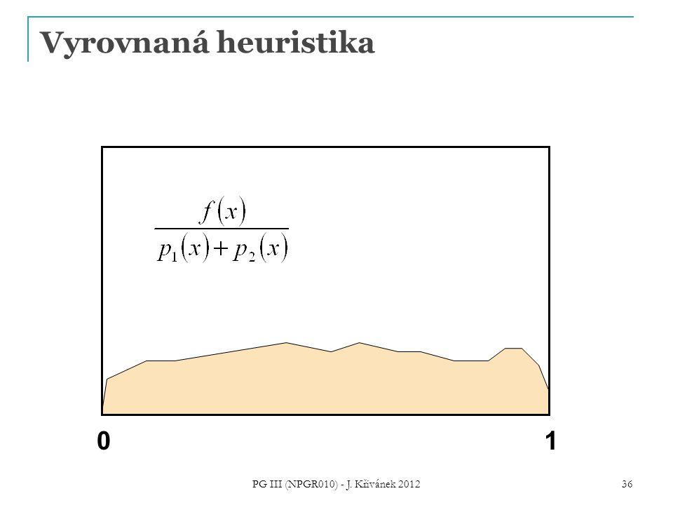 Vyrovnaná heuristika 01 PG III (NPGR010) - J. Křivánek 2012 36