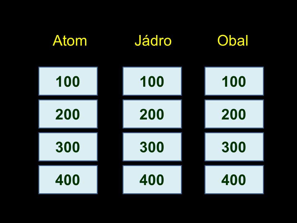 100 200 AtomJádroObal 300 400 100 200 300 400 100 200 300 400