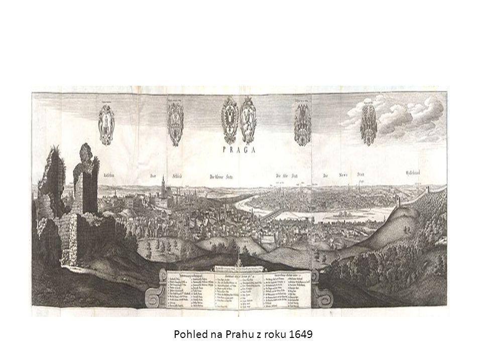 Pohled na Prahu z roku 1649