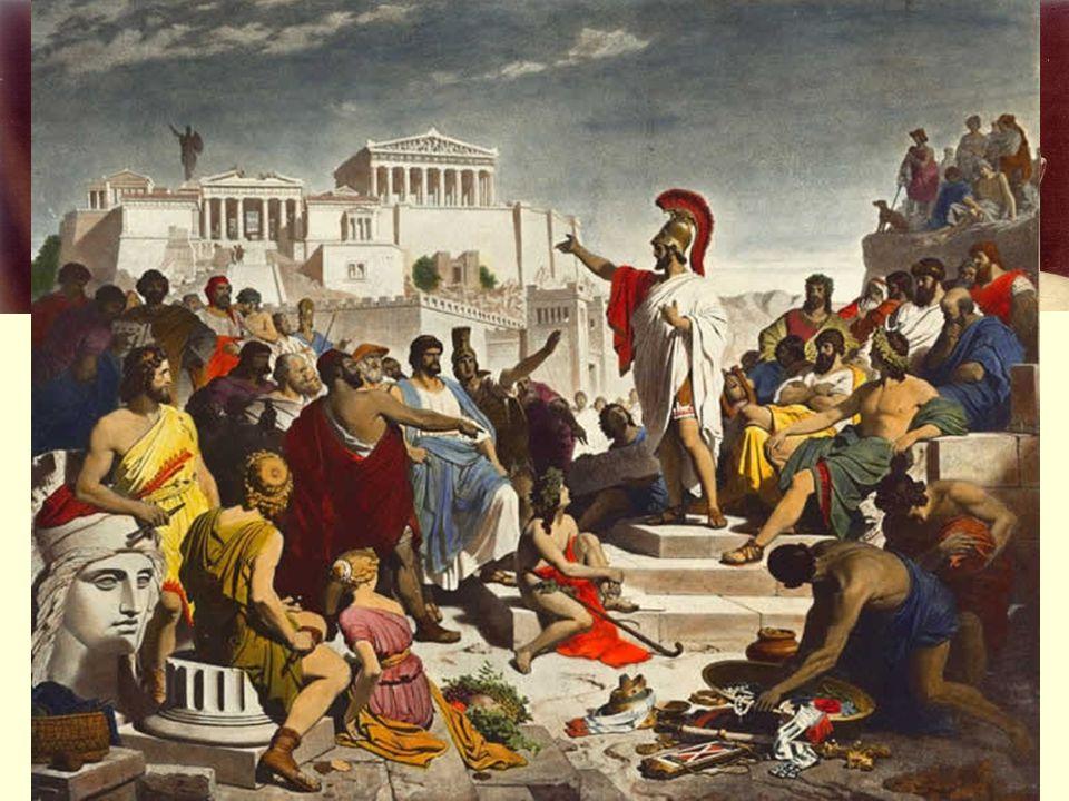 Zlatý věk Athén Periklés (443 – 429 př.n.l.) vynikající řečník posílil moc Athén z peněz spolku budoval loďstvo značná část peněz šla na výstavbu Athén