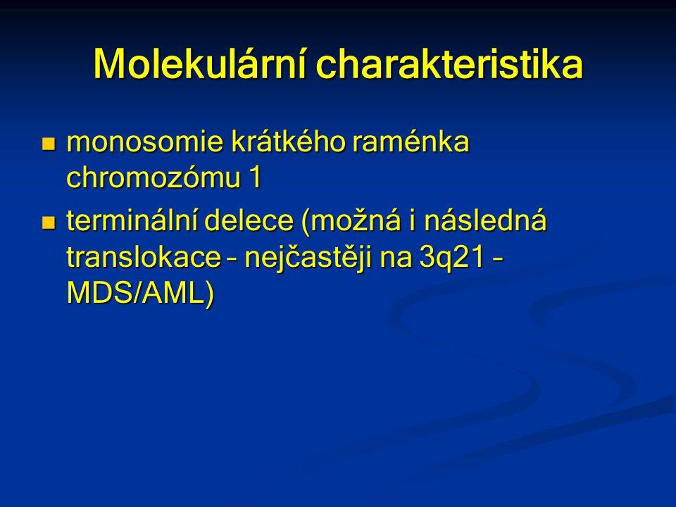 Molekulární charakteristika monosomie krátkého raménka chromozómu 1 monosomie krátkého raménka chromozómu 1 terminální delece (možná i následná transl