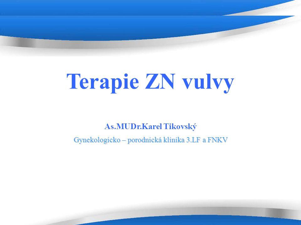 Powerpoint Templates Page 12 Stadium T1a ( bez angioinvaze ) invaze do 1mm, max.rozměr do 2cm riziko postižení lymfatických uzlin 1% široká excize či simplexní vulvektomie ( multifokalní léze či VIN) volný okraj 10mm ( 5-20)- významný prognostický faktor předoperační zhodnocení lymfatických uzlin : … negativní – bez lymfadenektomiesuspektní – extirpace či biopsie - negativní – bez lymfadenektomie - pozitivní – systemová inquinofemorální lymfadenektomie