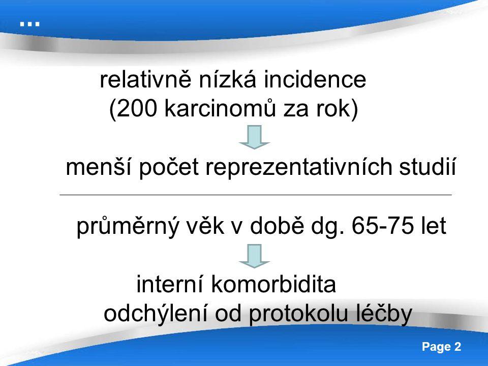 Powerpoint Templates Page 13 Stadium T1a ( s angioinvazí), T1b, T2 riziko postižení uzlin dle hloubky invaze až 30% radikální vulvektomie + bilaterální inquinofemorální lymfadenektomie ( technika 3 incizí) volný okraj 10mm ( v histopatologickém zpracování) lateralizované léze (T1b) – hemivulvektomie či radikální excize + bil.