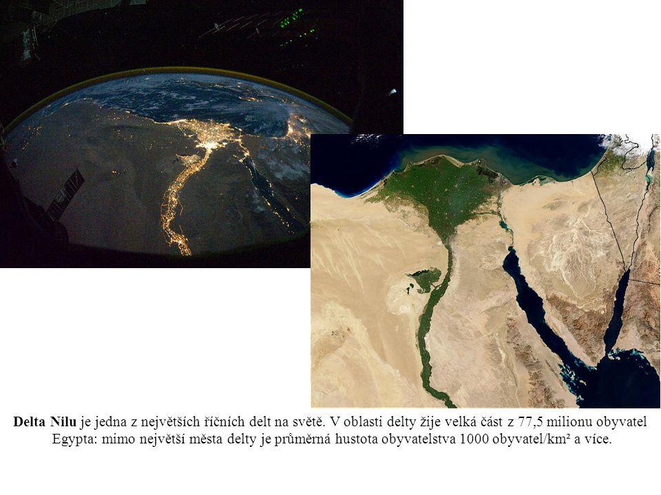 Delta Nilu je jedna z největších říčních delt na světě.