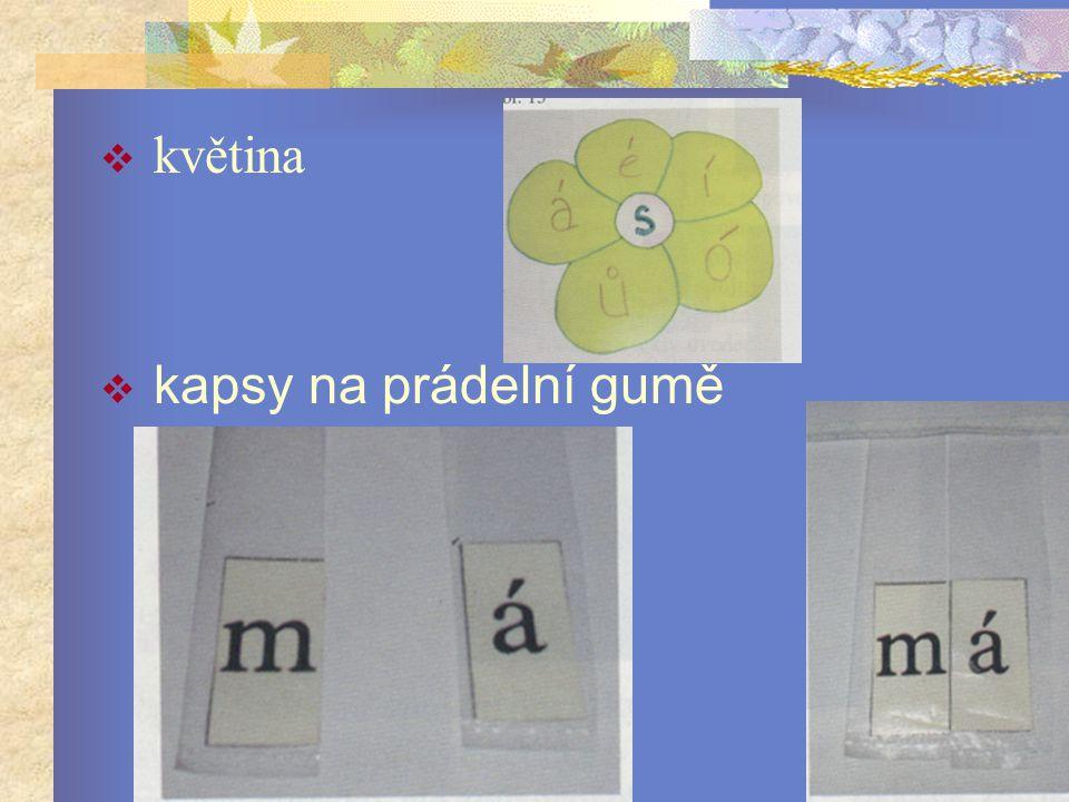 květina  kapsy na prádelní gumě