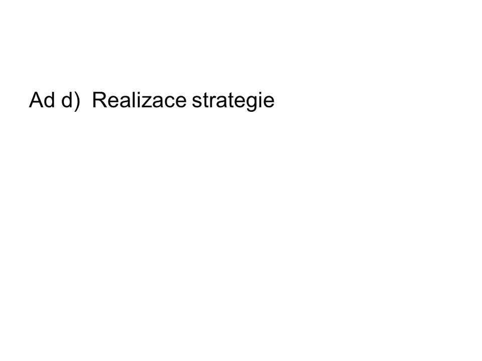 Ad d) Realizace strategie