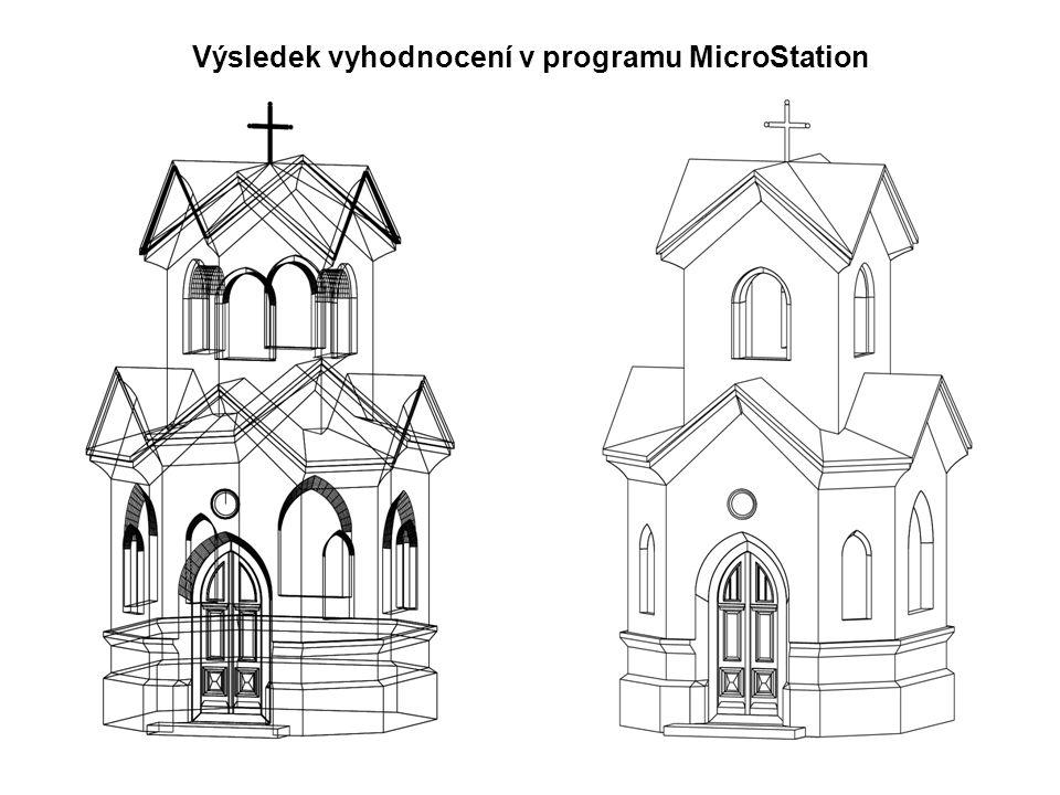 Výsledek vyhodnocení v programu MicroStation