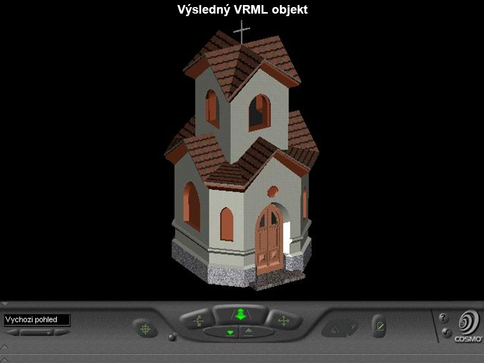 Výsledný VRML objekt