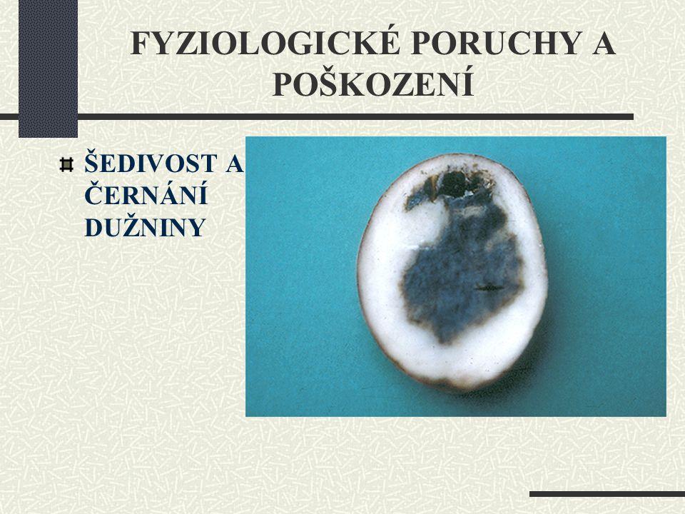 FYZIOLOGICKÉ PORUCHY A POŠKOZENÍ ŠEDIVOST A ČERNÁNÍ DUŽNINY