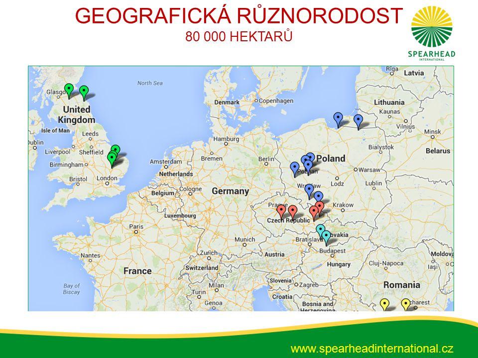 GEOGRAFICKÁ RŮZNORODOST 80 000 HEKTARŮ www.spearheadinternational.cz