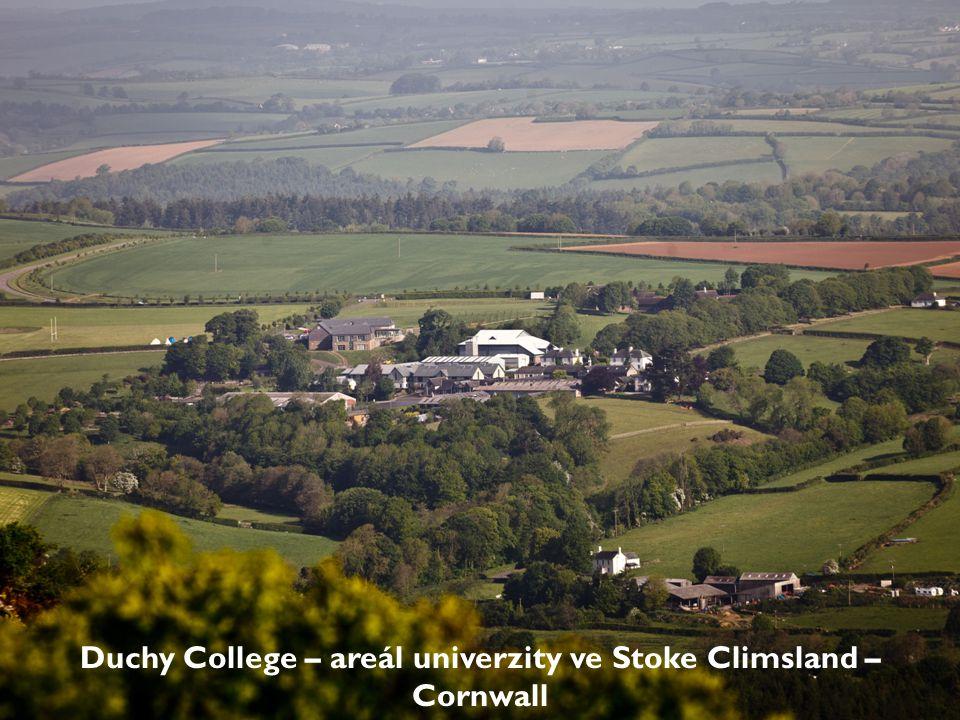 Duchy College – areál univerzity ve Stoke Climsland – Cornwall