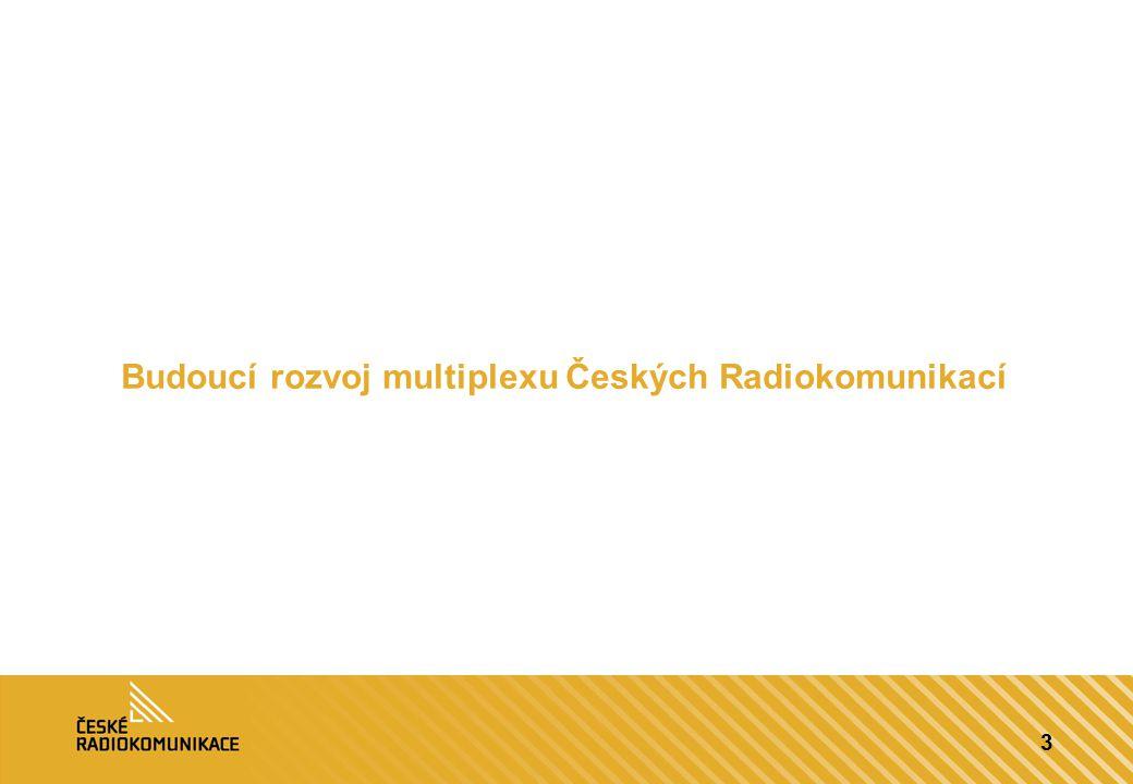 3 Budoucí rozvoj multiplexu Českých Radiokomunikací