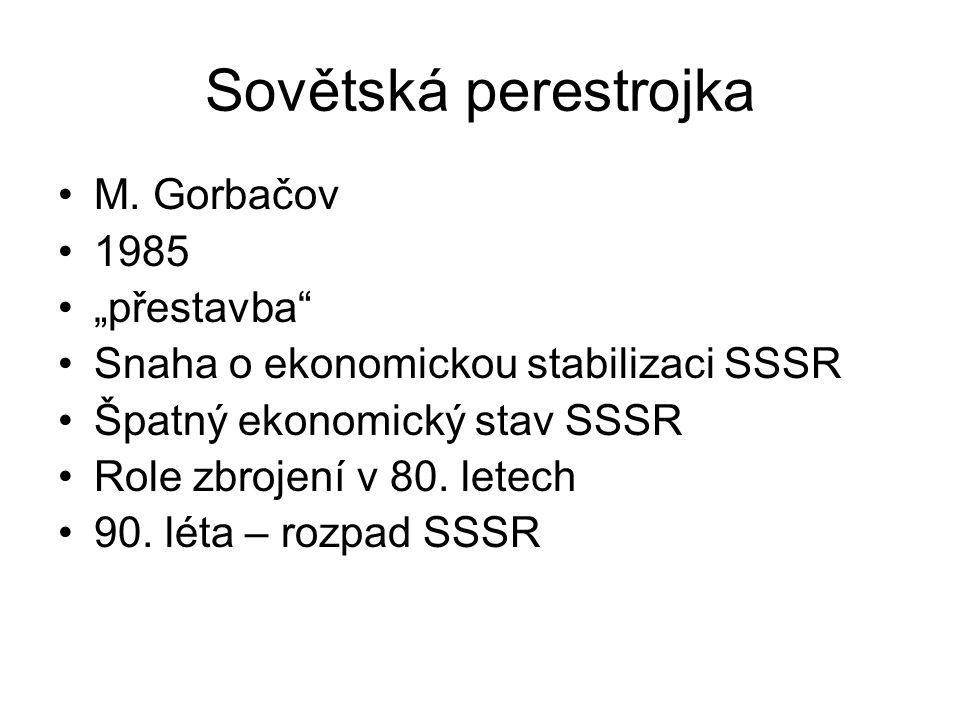 Sovětská perestrojka M.