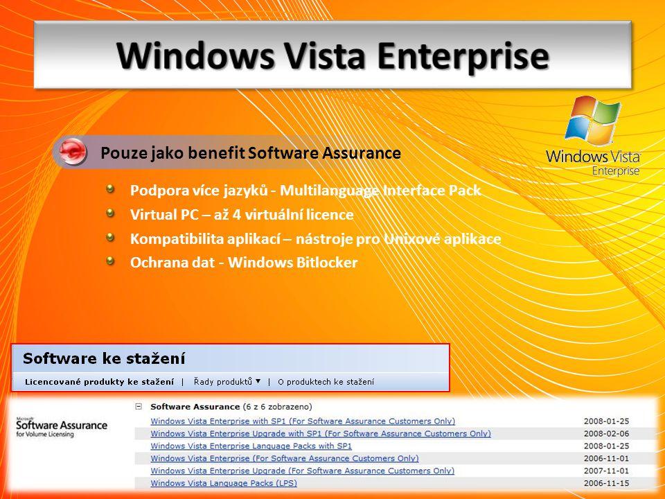 Podpora více jazyků - Multilanguage Interface Pack Virtual PC – až 4 virtuální licence Kompatibilita aplikací – nástroje pro Unixové aplikace Ochrana