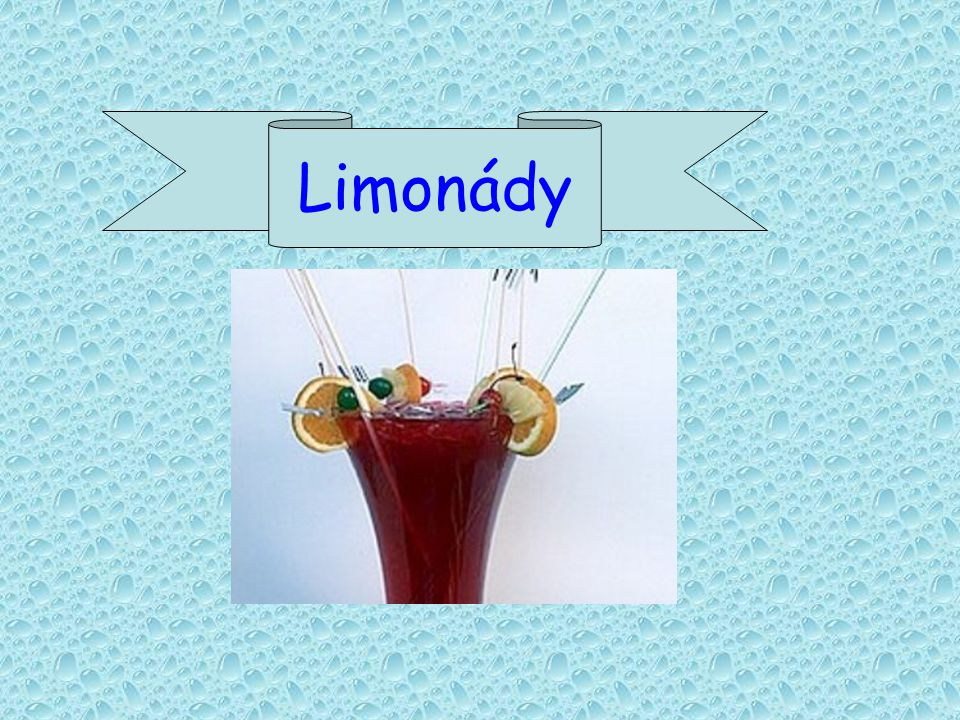 Limonády