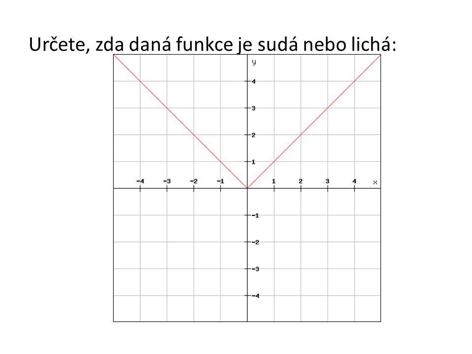 Určete, zda daná funkce je sudá nebo lichá: