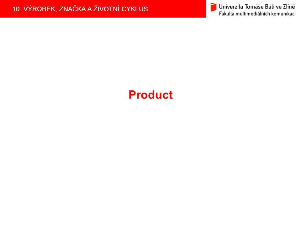 10. VÝROBEK, ZNAČKA A ŽIVOTNÍ CYKLUS Product