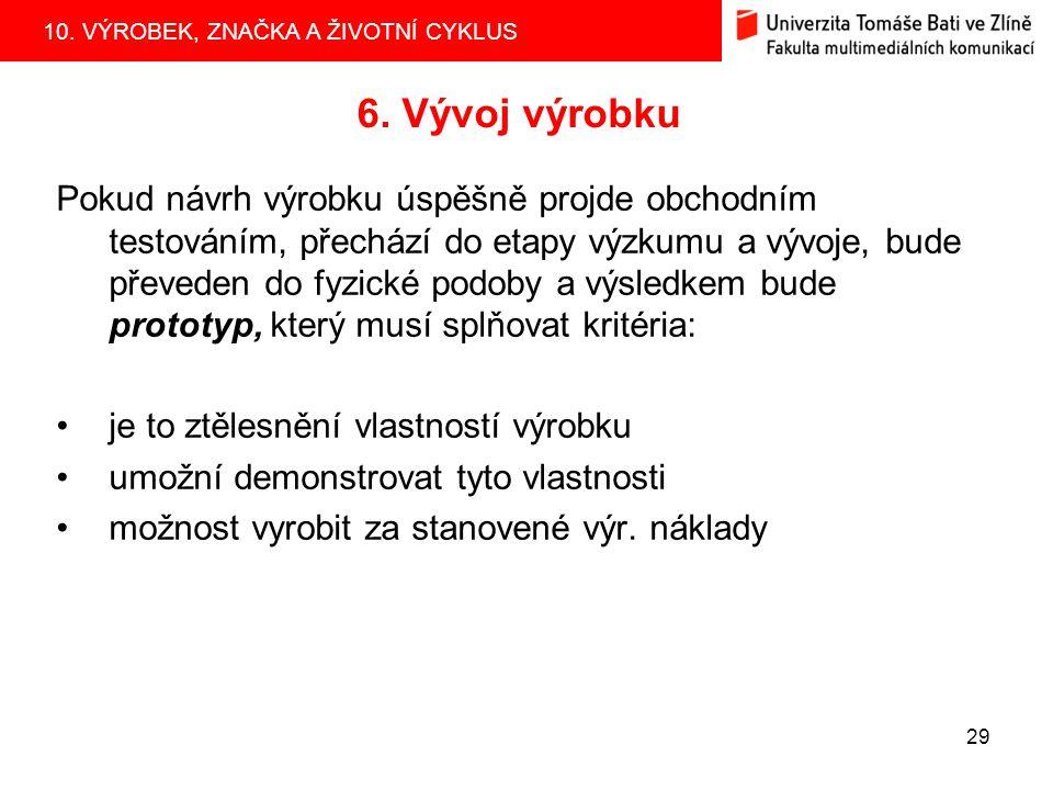 10.VÝROBEK, ZNAČKA A ŽIVOTNÍ CYKLUS 29 6.