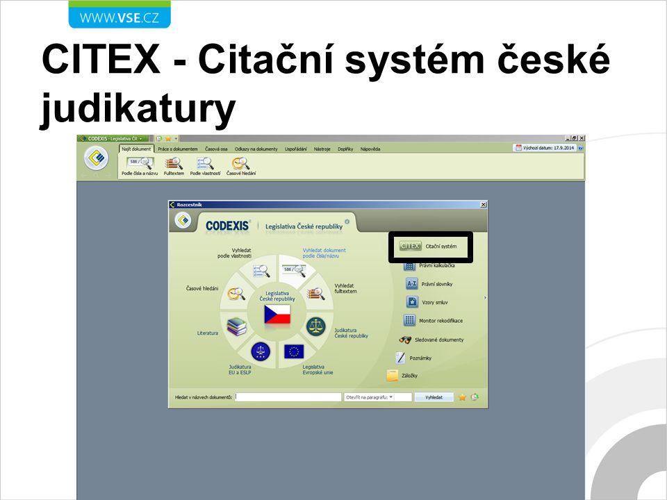 CITEX - Citační systém české judikatury
