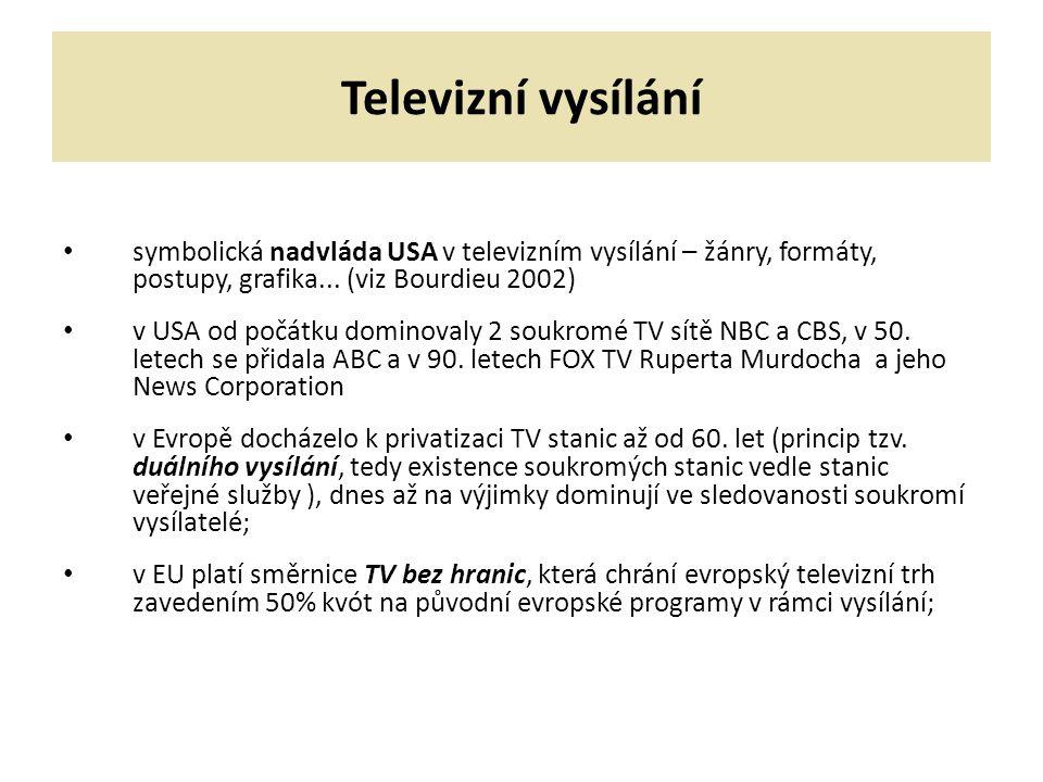 VYSÍLACÍ SCHÉMA TV morning (6:30-10) daytime (10-16) local prime time (16-19) prime time (19-22) late evening time (po 22.