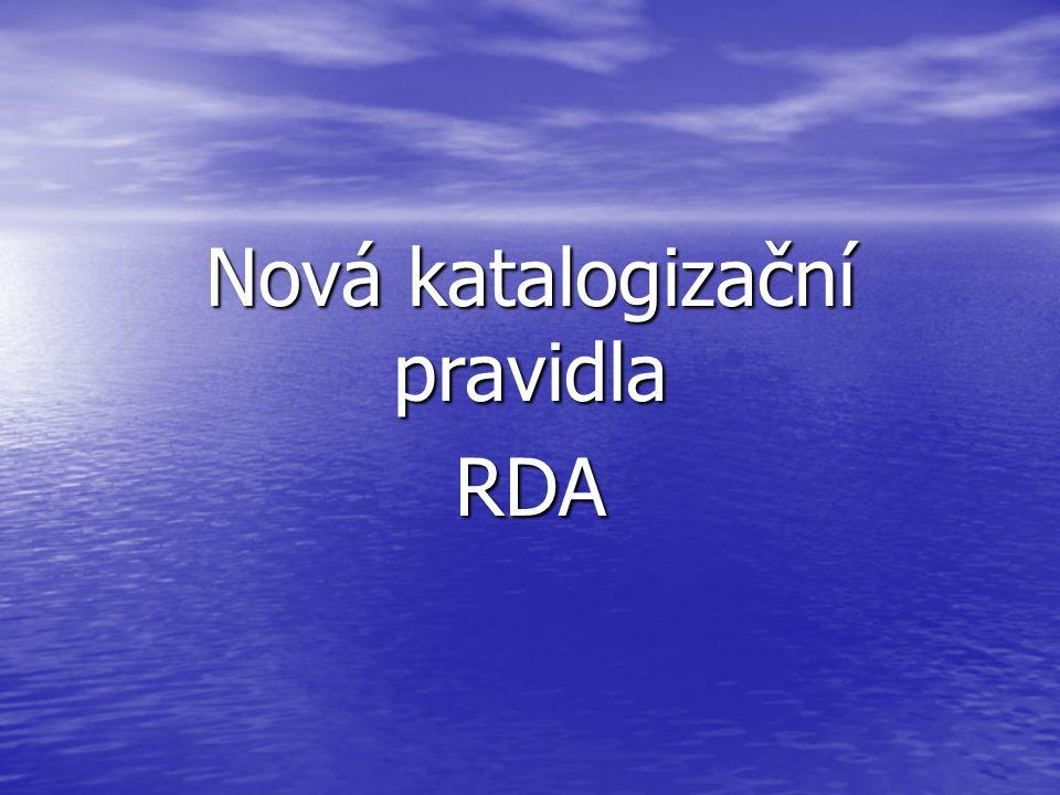 Nová katalogizační pravidla RDA