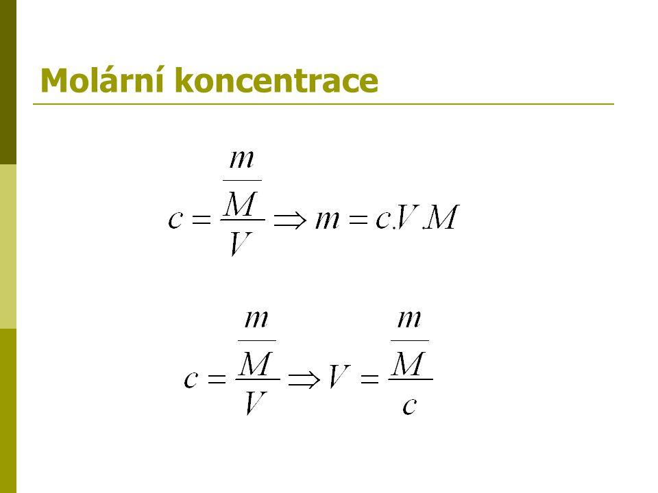 Molární koncentrace