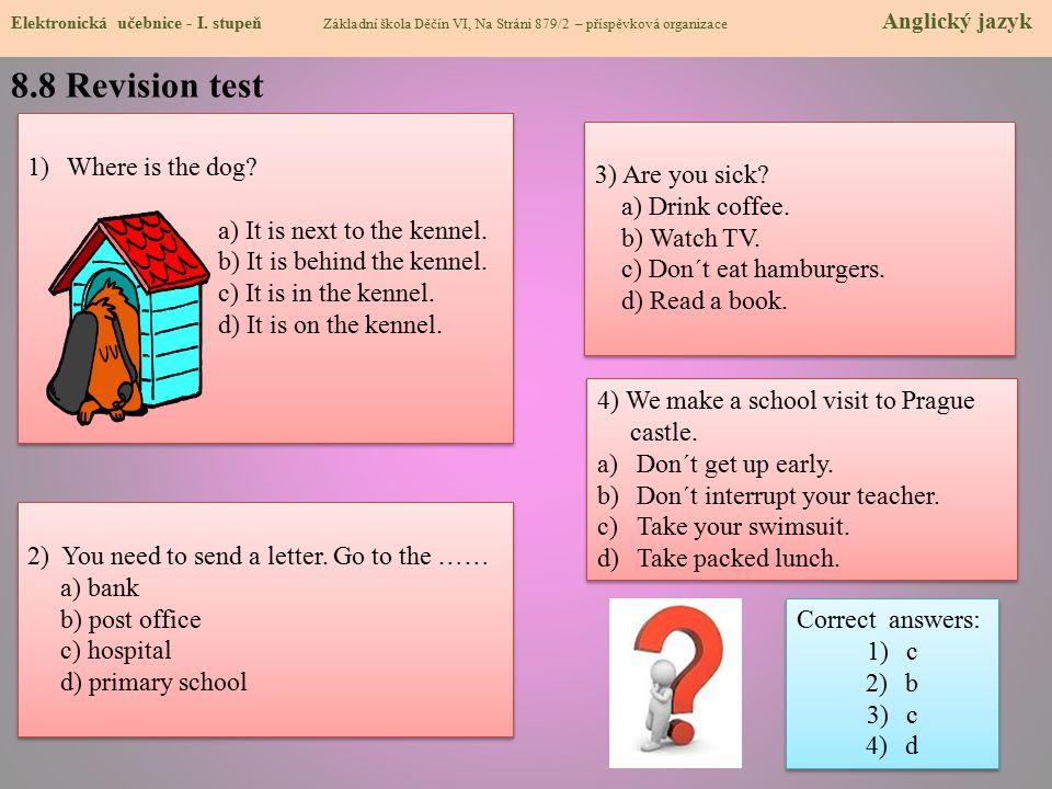 8.8 Revision test Elektronická učebnice - I.