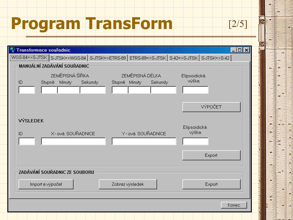 12 Program TransForm [2/5]