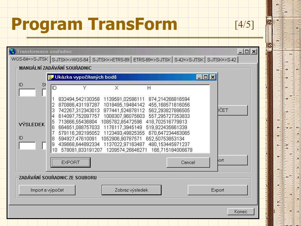 14 Program TransForm [4/5]