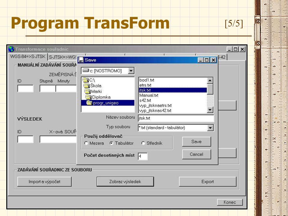 15 Program TransForm [5/5]