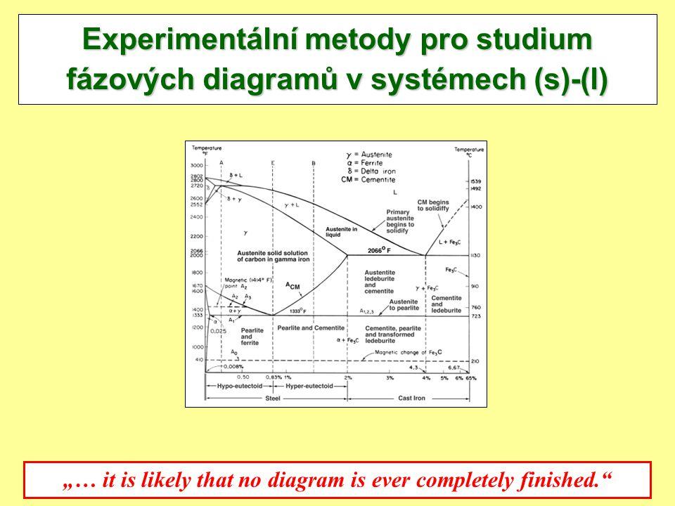 """10.11.2010J.Leitner - Ústav inženýrství pevných látek, VŠCH Praha 3 Experimentální metody pro studium fázových diagramů v systémech (s)-(l) """"… it is l"""