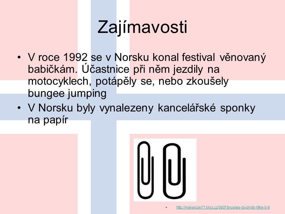 Zajímavosti V roce 1992 se v Norsku konal festival věnovaný babičkám.