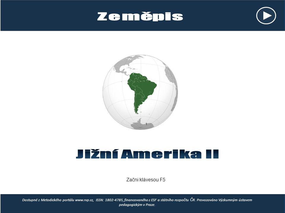 Správné odpovědi: Venezuela, Chile, Brazílie, Peru, Argentina