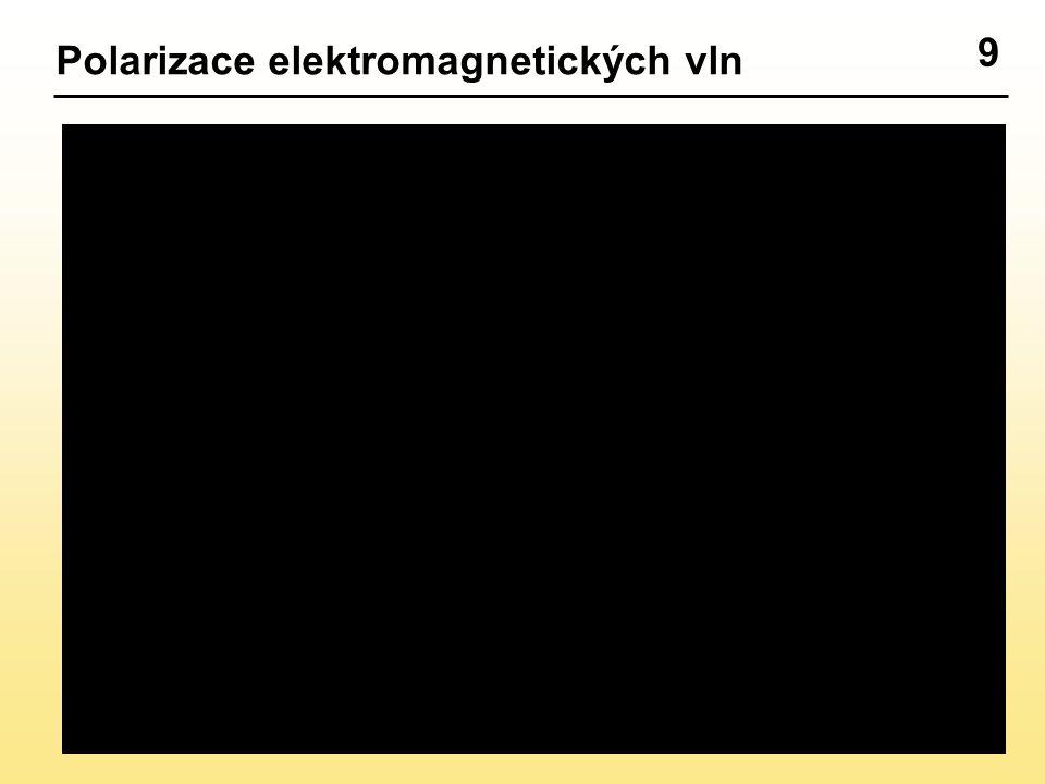 9 Polarizace elektromagnetických vln