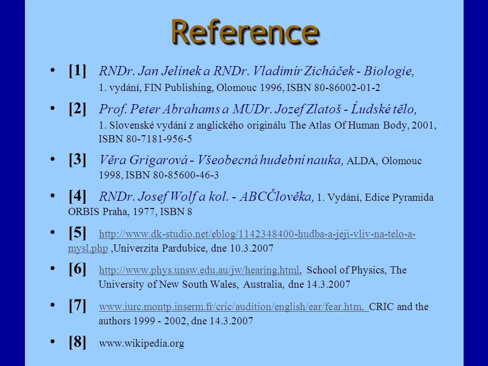 ReferenceReference [1] RNDr. Jan Jelínek a RNDr. Vladimír Zicháček - Biologie, 1. vydání, FIN Publishing, Olomouc 1996, ISBN 80-86002-01-2 [2] Prof. P