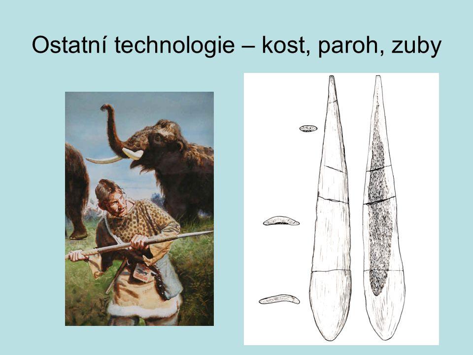 Ostatní technologie – kost, paroh, zuby