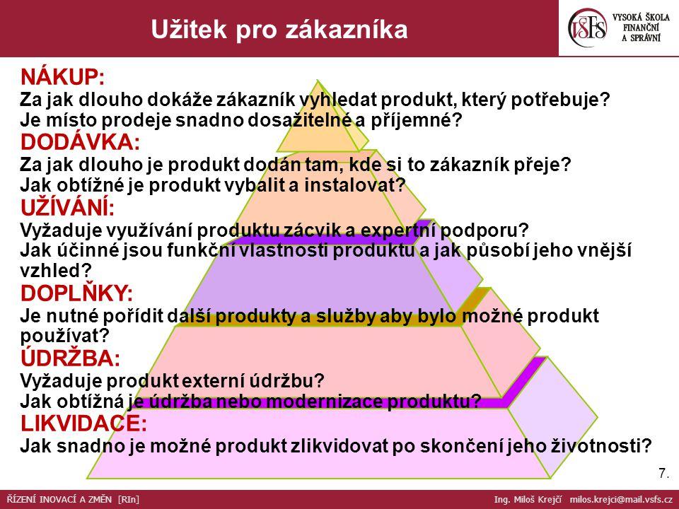 7.7. Užitek pro zákazníkaxxx xxx ŘÍZENÍ INOVACÍ A ZMĚN [RIn] Ing.