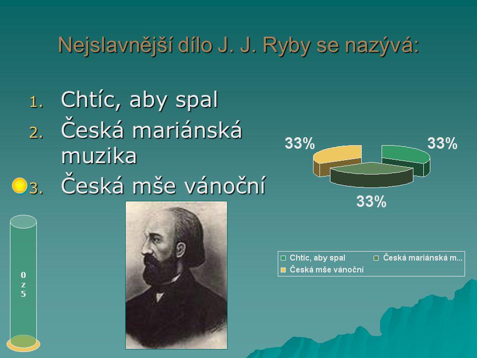 Loutnu českou složil: 1. J. J. Ryba 2. J. S. Bach 3. Adam Michna z Otradovic 0z50z5