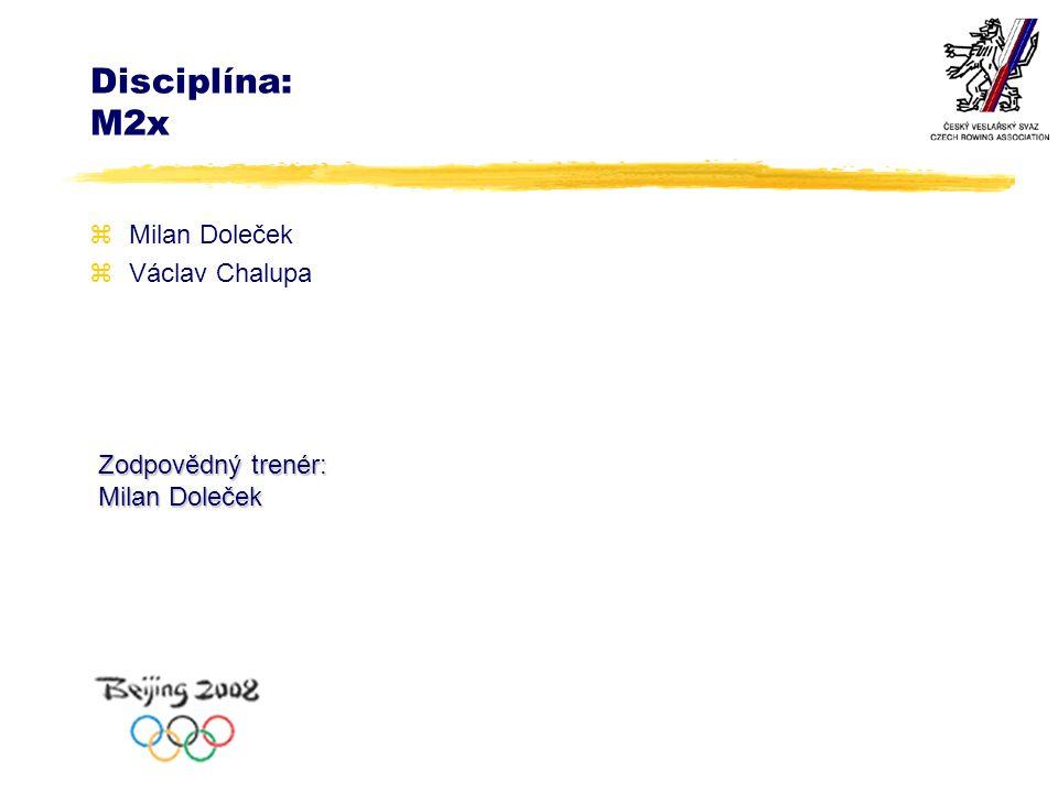 Disciplína: M2x zMilan Doleček zVáclav Chalupa Zodpovědný trenér: Milan Doleček