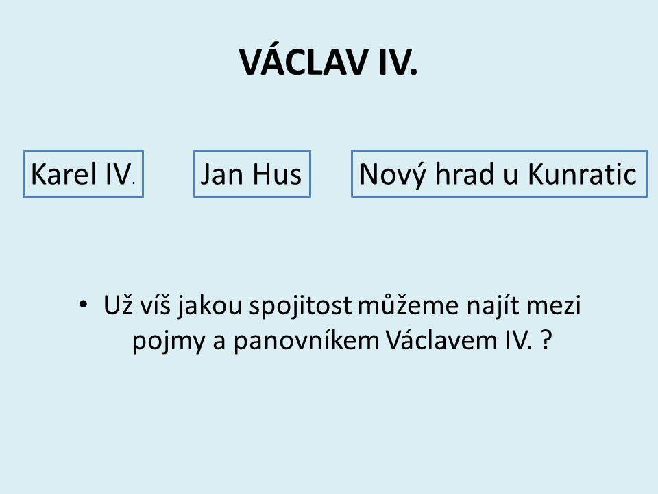 Pětilístek Téma: VÁCLAV IV. Jaký byl? Co dělal? Větu a Václavu IV. Metafora, jiné označení.