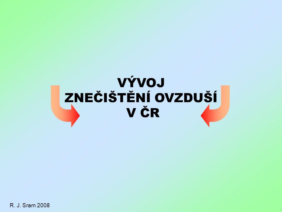 VÝVOJ ZNEČIŠTĚNÍ OVZDUŠÍ V ČR R. J. Sram 2008