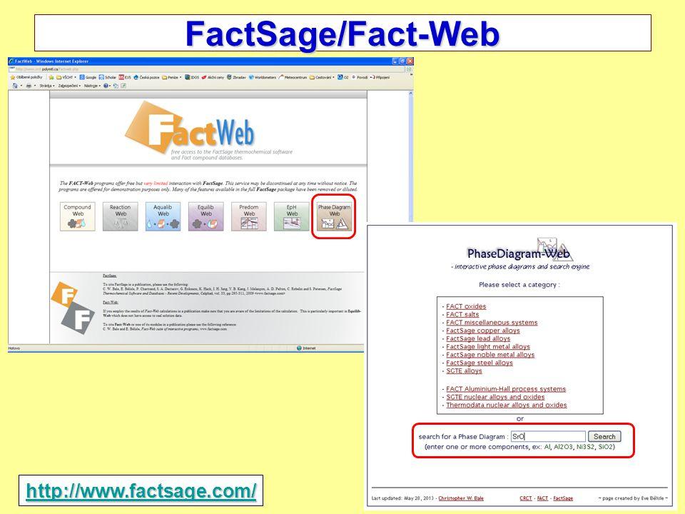 33/35 2014 FactSage/Fact-Web http://www.factsage.com/
