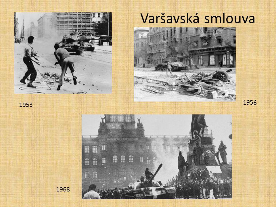 Varšavská smlouva 1953 1956 1968