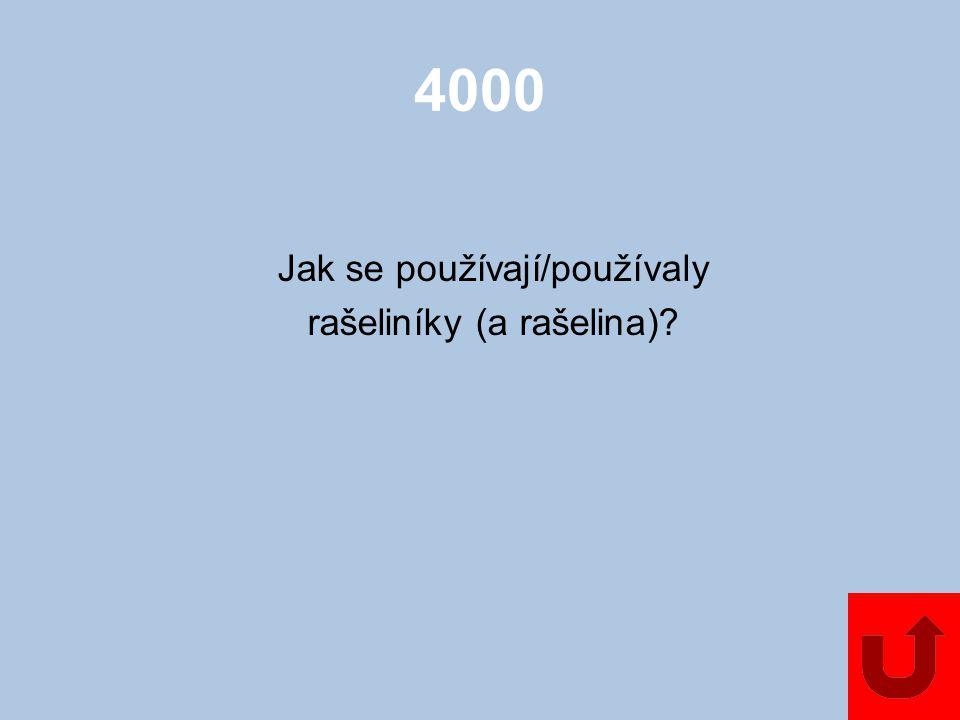 4000 Jak se používají/používaly rašeliníky (a rašelina)?