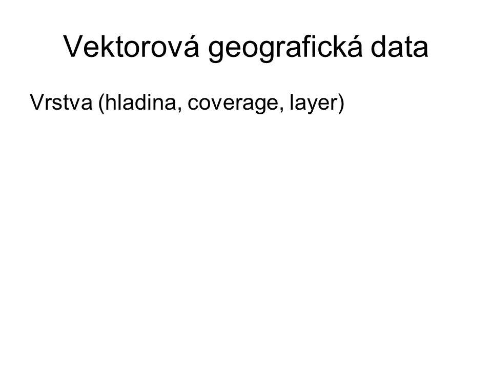 Typy geografických dat Data polohová Data popisná Data topologická Metadata