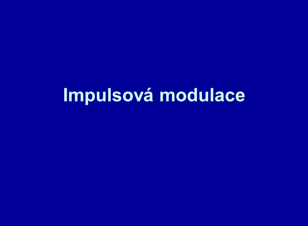 Základní parametry impulsového signálu jsou : - amplituda U n - šířka impulsu - š - posunutí náběžné hrany (čela) impulsu od základní polohy - p Pro modulaci platí, že typ modulace je odvozen od toho, který parametr je ovlivňován nf signálem.