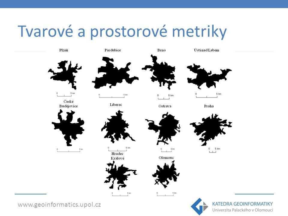 www.geoinformatics.upol.cz Měřítko Hraje klíčovou roli Před analýzou nutno: o Explicitně definovat měřítko o Identifikovat objekty, jevy a procesy relativní na měřítku o Být opatrný při srovnávání jevů s různými měřítky