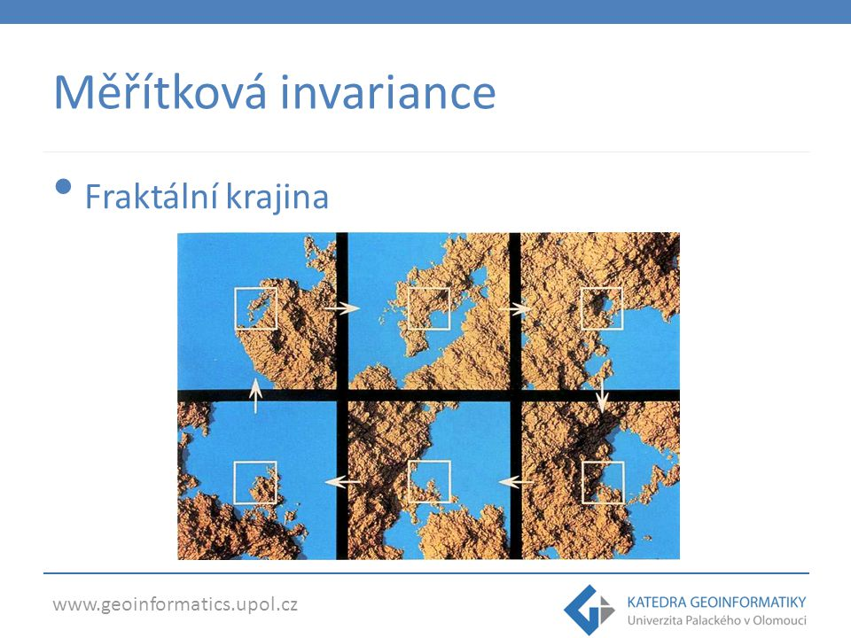 www.geoinformatics.upol.cz Měřítková invariance Fraktální město