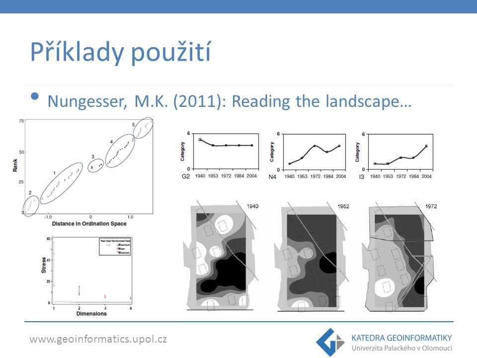 www.geoinformatics.upol.cz Příklady použití Herold, M.